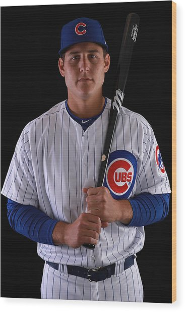 Chicago Cubs Photo Day Wood Print by Gregory Shamus