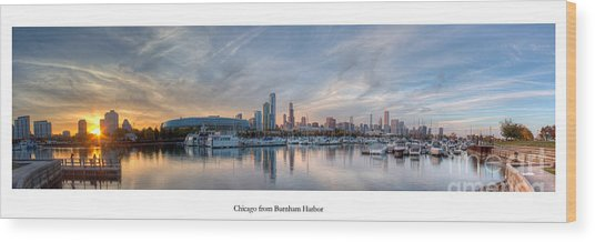 Chicago From Burnham Harbor Wood Print