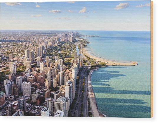 Chicago Lakefront Skyline Wood Print by Fraser Hall
