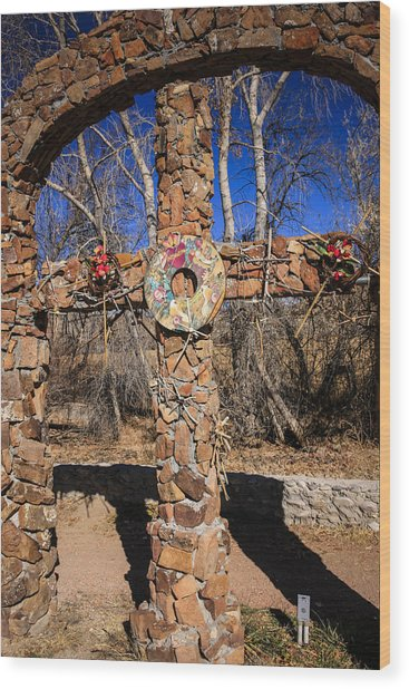 Chimayo Cross Wood Print