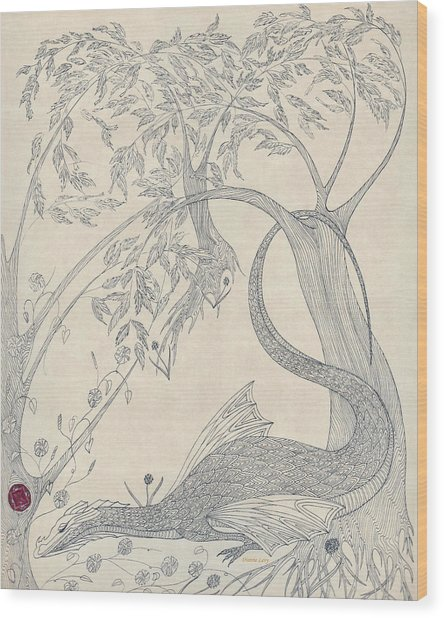 China The Dragon Wood Print