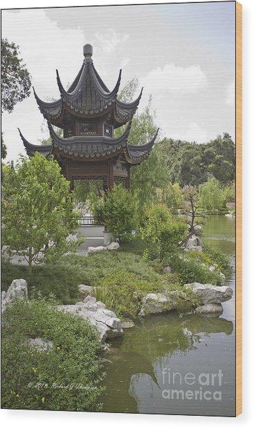 Chinese Water Garden Wood Print
