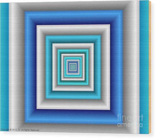 Chromodynamic 3 Wood Print