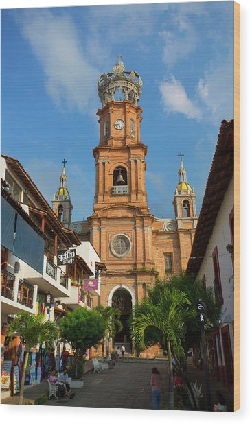 Church Of Our Lady Of Guadalupe (la Wood Print