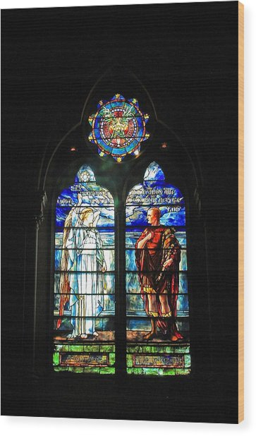 Church Of The Covenant Stained Glass 11 Wood Print