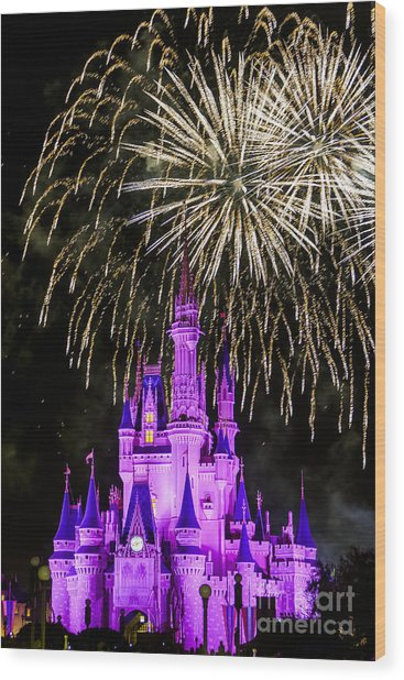 Magic Kingdom Cinderella Castle Wood Print