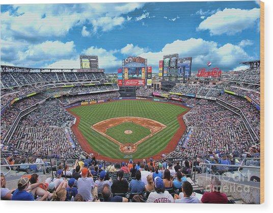 Citi Field 2 - Home Of The N Y Mets Wood Print