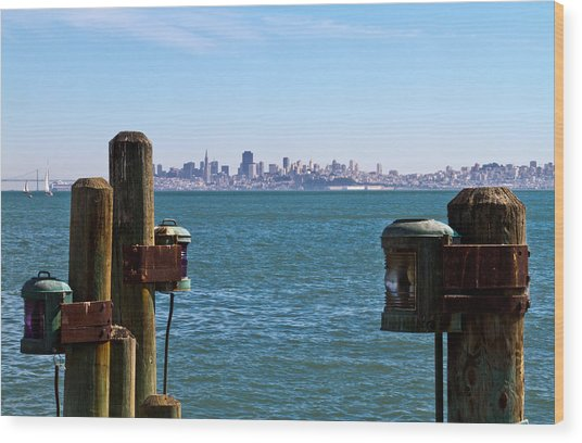 City By The Bay Wood Print by Bernard  Barcos