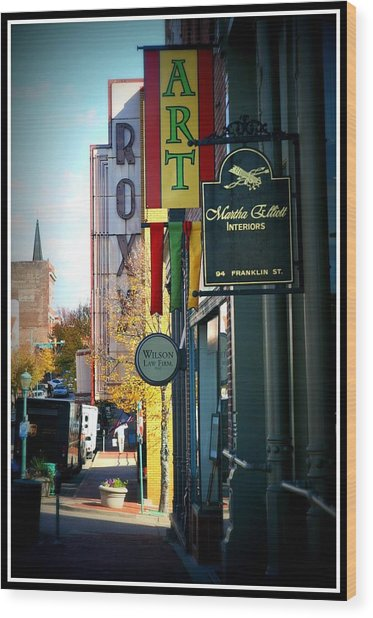 Clarksville Wood Print by Shannon Wall