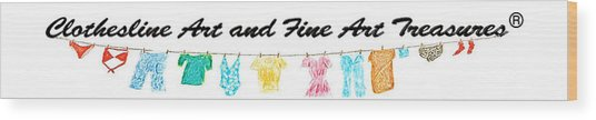 Clothesline Gallery Logo Wood Print
