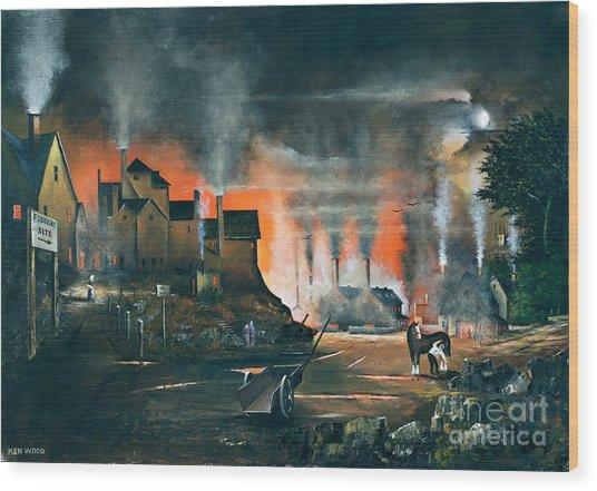 Coalbrookdale Wood Print