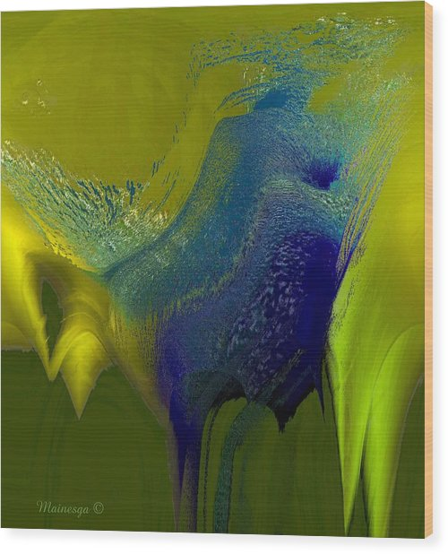 Cobalt-w Wood Print
