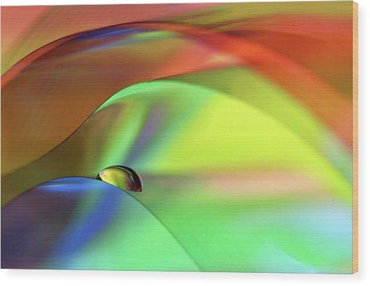 Color Cascade Wood Print