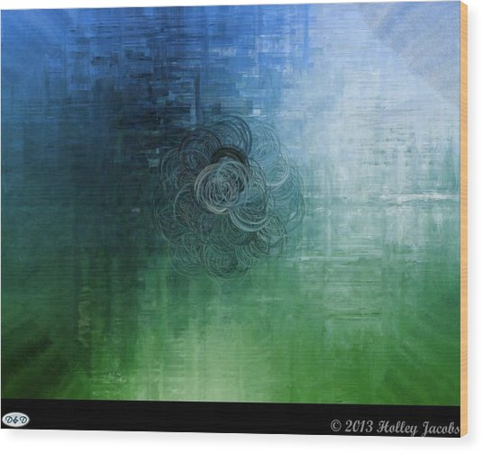 Color Sensation Teal Wood Print by Holley Jacobs