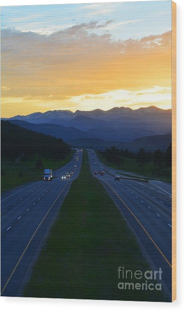Wood Print featuring the photograph Colorado Drive by Kate Avery