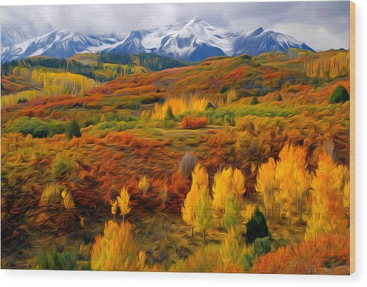 Colorful Colorado At It's Best Wood Print