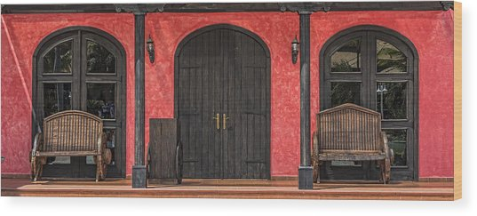Colorful Mexican Doorway Wood Print