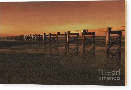 Colorful Pier Wood Print