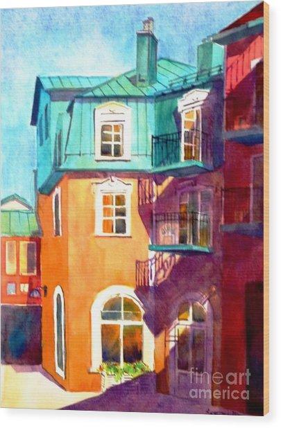 Colourful Tremblaunt Wood Print