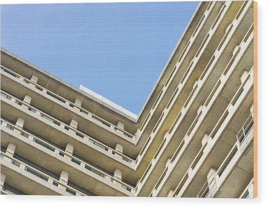 Concrete Building Wood Print