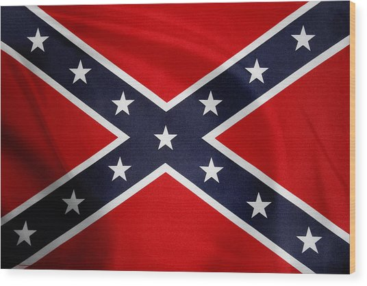 Confederate Flag 5 Wood Print