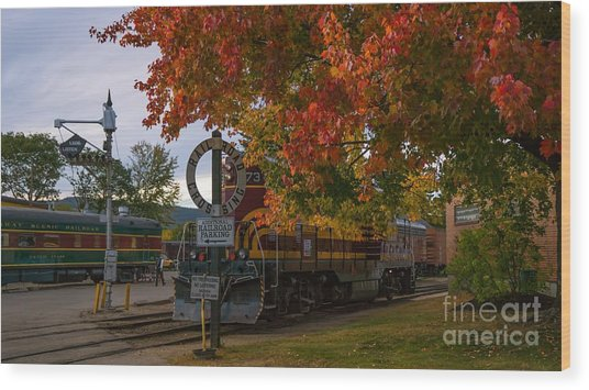 Conway Scenic Railroad Wood Print