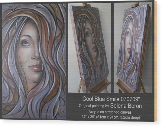 Cool Blue Smile 070709 Wood Print
