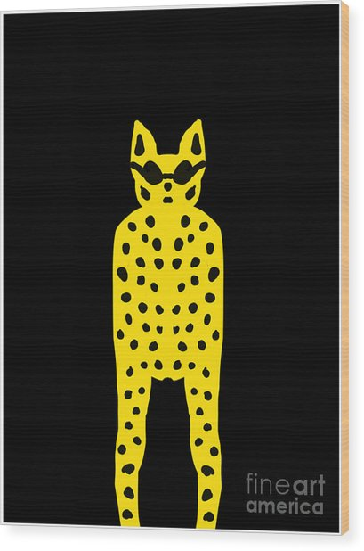 Simply Cool For Cats  Wood Print