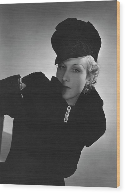 Cora Hemmet Wearing Reboux And Boucheron Wood Print by Horst P. Horst