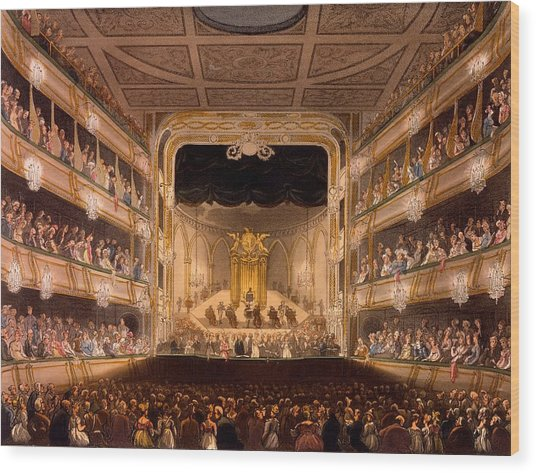 Covent Garden Theater Wood Print