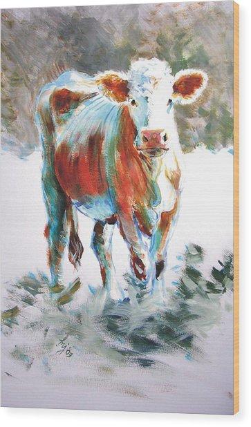 Cow Wood Print