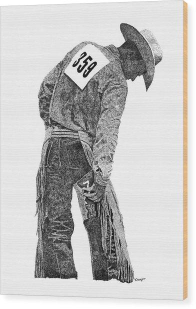 Cowboy 1 Wood Print