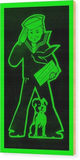 Crackerjack Green Wood Print