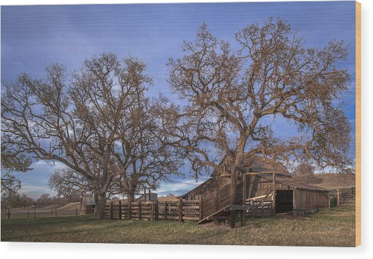 Cripple Creek Barn Wood Print