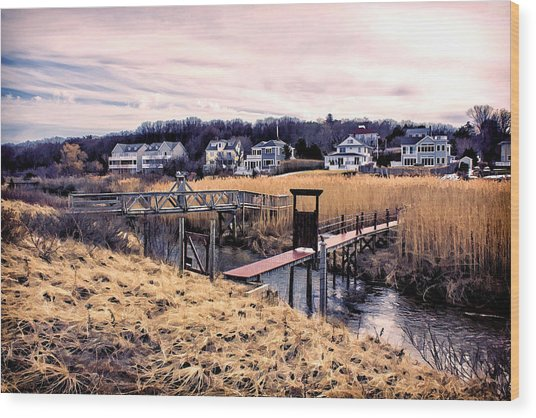 Crossing The Eel River  Wood Print