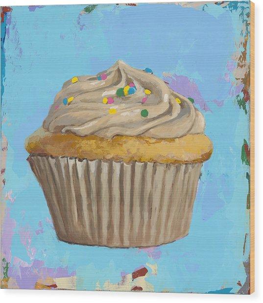 Cupcake #1 Wood Print