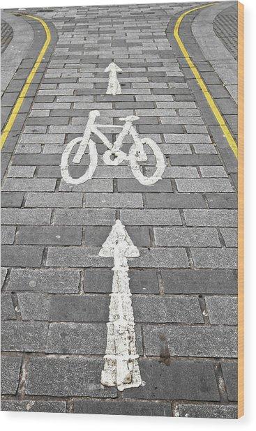 Cycle Path Wood Print