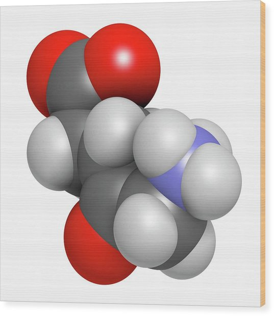 D-aminolevulinic Acid Ala Drug Molecule Wood Print by Molekuul