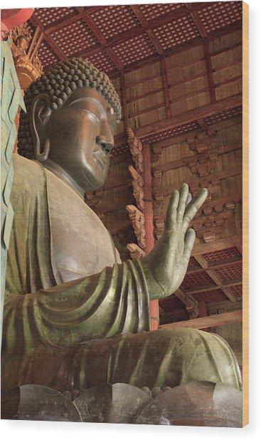 Daimonji Temple In Nara, Japan Is Home Wood Print by Paul Dymond
