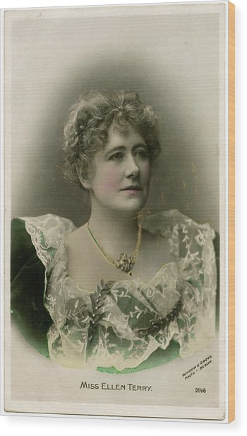 Dame Ellen Alice Terry (1847 - 1928) Wood Print by Mary Evans Picture Library