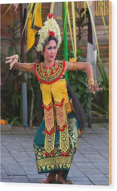 Dancer - Bali Wood Print
