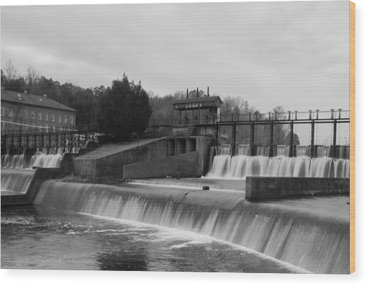 Daniel Pratt Cotton Mill Dam Prattville Alabama Wood Print