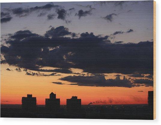 Dawn Wood Print by Jason KS Leung