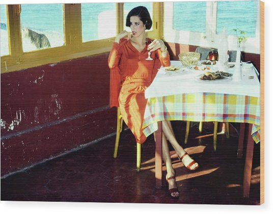 Dayle Haddon Wearing Missoni Wood Print