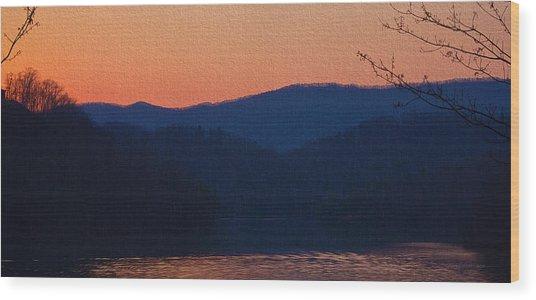 Days End Wood Print