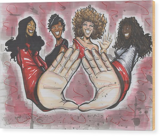 Delta Sigma Theta Sorority Inc Wood Print
