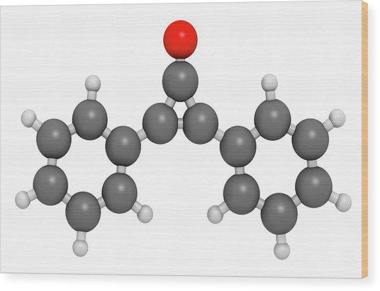 Diphencyprone Alopecia Drug Molecule Wood Print by Molekuul
