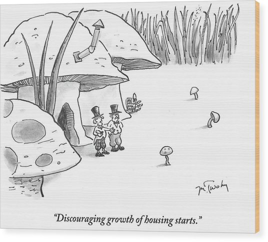 Discouraging Growth Of Housing Starts Wood Print