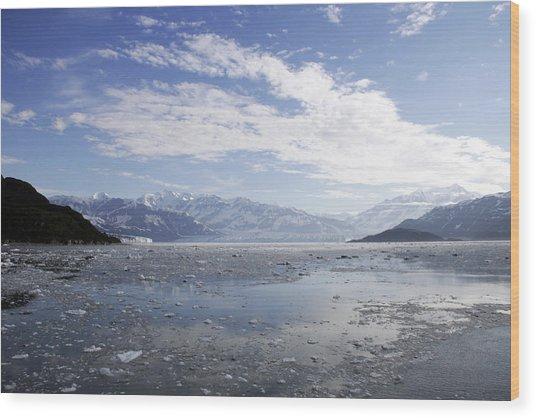 Distant Glacier Wood Print