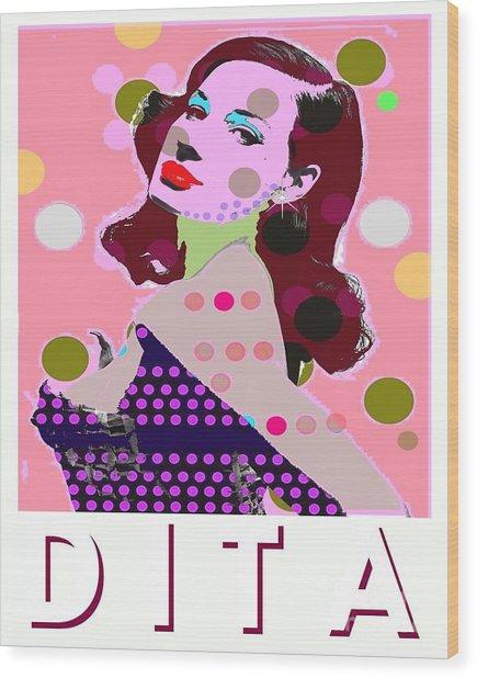 Dita Wood Print by Ricky Sencion